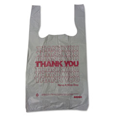 BPC 10519THYOU Barnes Paper Company Thank You High-Density Shopping Bags BPC10519THYOU