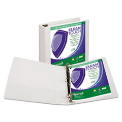SAM 18267 Samsill Clean Touch Locking Round Ring View Binder Protected with an Antimicrobial Additive SAM18267