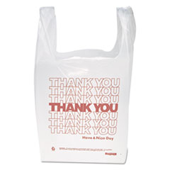 """IBS THW1VAL Inteplast Group """"Thank You"""" Handled T-Shirt Bag IBSTHW1VAL"""