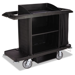 RCP FG618900BLA Rubbermaid Commercial Housekeeping Cart RCPFG618900BLA