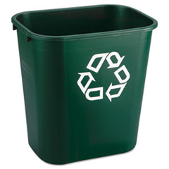 RCP 295606GREEA Rubbermaid Commercial Deskside Plastic Container for Paper Recycling RCP295606GREEA