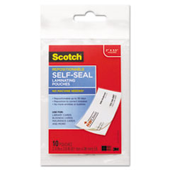 MMM LSR85110G Scotch Self-Sealing Laminating Pouches MMMLSR85110G