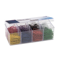 OIC 97228 Officemate PVC Free Plastic Coated Paper Clips OIC97228