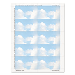GEO 47372S Geographics Clouds Design Business Suite Business Cards GEO47372S