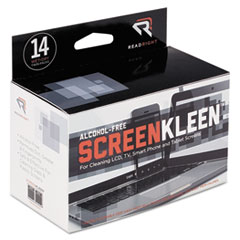 REA RR1291 Read Right Alcohol-Free ScreenKleen Wipes REARR1291