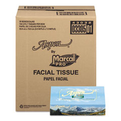 MRC 3305BX Marcal PRO 100% Recycled Convenience Pack Facial Tissue MRC3305BX