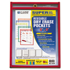 CLI 41610 C-Line Reusable Dry Erase Pockets CLI41610