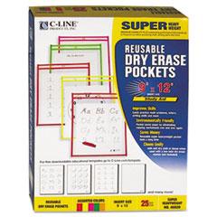 CLI 40820 C-Line Reusable Dry Erase Pockets CLI40820