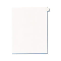 AVE 82163 Avery Preprinted Legal Exhibit Index Tab Dividers with Black and White Tabs AVE82163