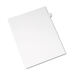 AVE 82167 Avery Preprinted Legal Exhibit Index Tab Dividers with Black and White Tabs AVE82167