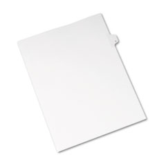 AVE 82169 Avery Preprinted Legal Exhibit Index Tab Dividers with Black and White Tabs AVE82169