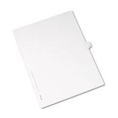 AVE 82176 Avery Preprinted Legal Exhibit Index Tab Dividers with Black and White Tabs AVE82176