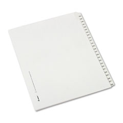 AVE 82192 Avery Preprinted Legal Exhibit Index Tab Dividers with Black and White Tabs AVE82192