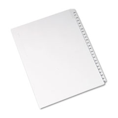 AVE 82194 Avery Preprinted Legal Exhibit Index Tab Dividers with Black and White Tabs AVE82194