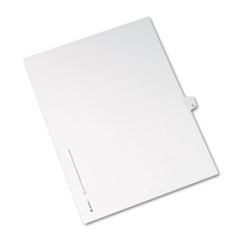 AVE 82209 Avery Preprinted Legal Exhibit Index Tab Dividers with Black and White Tabs AVE82209