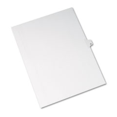 AVE 82211 Avery Preprinted Legal Exhibit Index Tab Dividers with Black and White Tabs AVE82211