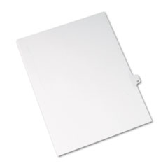 AVE 82215 Avery Preprinted Legal Exhibit Index Tab Dividers with Black and White Tabs AVE82215
