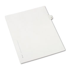 AVE 82217 Avery Preprinted Legal Exhibit Index Tab Dividers with Black and White Tabs AVE82217
