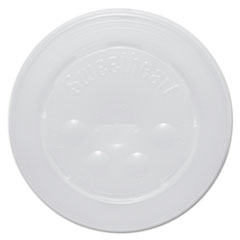 SCC L16BL Dart Polystyrene Plastic Flat Straw-Slot Cold Cup Lids SCCL16BL