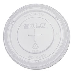 SCC 668TS Dart PETE Plastic Flat Straw-Slot Cold Cup Lids SCC668TS