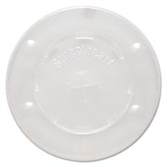 SCC L12BLN Dart Polystyrene Plastic Flat Straw-Slot Cold Cup Lids SCCL12BLN