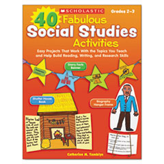 SHS SC531505 Scholastic 40 Fabulous Social Studies Activities SHSSC531505