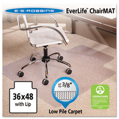 ESR 128073 ES Robbins EverLife Moderate Use Chair Mat for Low Pile Carpet ESR128073