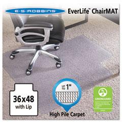 ESR 124054 ES Robbins EverLife Intensive Use Chair Mat for High to Extra-High Pile Carpet ESR124054