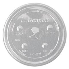 GNP LCH24 Genpak  Cruiser Flat Straw Slot Cup Lids GNPLCH24