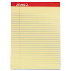 Perforated Edge Writing Pad, Legal/Margin Rule, Letter, Canary, 50 Sheet, Dozen