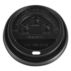 PCT DDL124BLD Dopaco Dome Lids for Hot Paper Cups PCTDDL124BLD