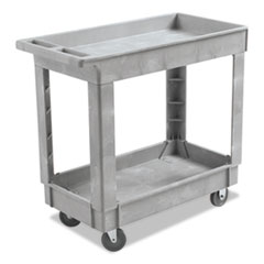 BWK 3416UCGRA Boardwalk Two-Shelf Utility Cart BWK3416UCGRA