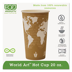 ECO EPBHC20WA Eco-Products World Art Hot Cups ECOEPBHC20WA