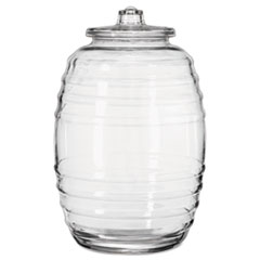 LIB 9520004 Libbey Glass Barrel with Lid LIB9520004