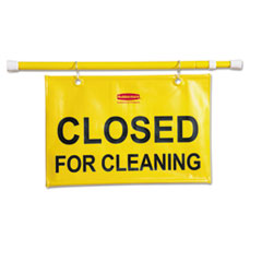 RCP 9S15YEL Rubbermaid Commercial Site Safety Hanging Sign RCP9S15YEL