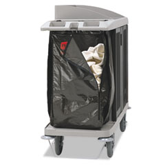 RCP 1966885 Rubbermaid Commercial Zippered Vinyl Cleaning Cart Bag RCP1966885