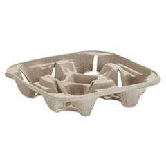 HUH 20939 Chinet  StrongHolder  Molded Fiber Cup Trays HUH20939