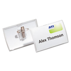 DBL 821419 Durable Click-Fold Convex Name Badge Holders DBL821419