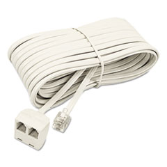 SOF 04130 Softalk Telephone Extension Cord, Plug/Dual Jack SOF04130
