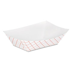 DXE RP50 Dixie Kant Leek Polycoated Paper Food Tray DXERP50