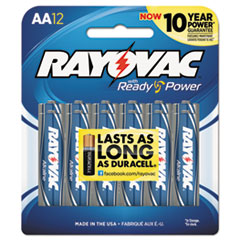 RAY 81512CF Rayovac Alkaline Batteries RAY81512CF