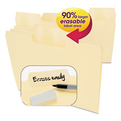 SMD 10380 Smead Erasable SuperTab File Folders SMD10380