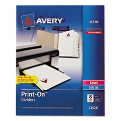 AVE 11528 Avery Customizable Print-On Dividers AVE11528