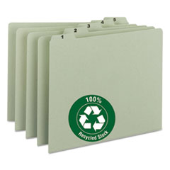 SMD 50369 Smead 100% Recycled Daily Top Tab File Guide Set SMD50369