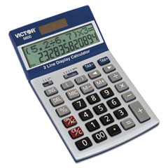 VCT 9800 Victor 9800 2-Line Easy Check Display Calculator VCT9800