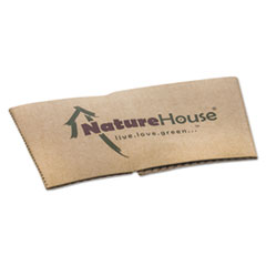 SVA S02CT NatureHouse Unbleached Paper Hot Cup Sleeves SVAS02CT