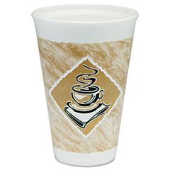 DCC 16X16GPK Dart Café G Foam Hot/Cold Cups DCC16X16GPK