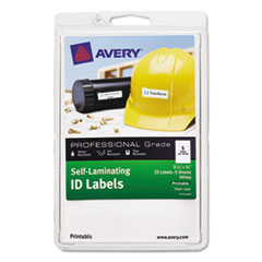 AVE 00760 Avery Self-Laminating ID Labels AVE00760