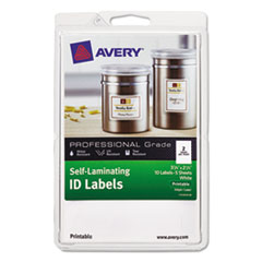 AVE 00761 Avery Self-Laminating ID Labels AVE00761