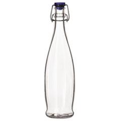LIB 13150020 Libbey Glass Water Bottle with Wire Bail Lid LIB13150020